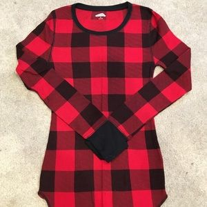 Buffalo Plaid thermal pajama top